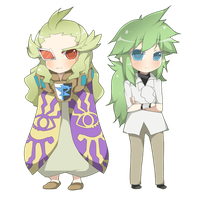 N and Ghetsis by ruri-chu