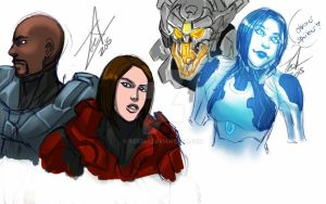 halo 5 -some- sketches by WinterSpectrum