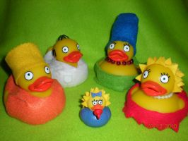 Simpsons Rubber Ducks by Oriana-X-Myst