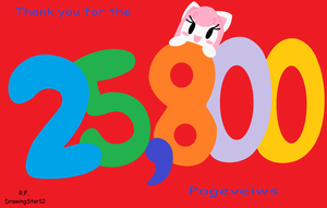 25,800 Pageviews by DrawingStar12