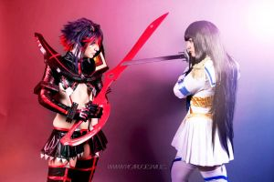 Ryuko and Satsuki cosplay from kill la kill by AsakuraYumiChan