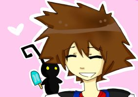 Sora and the Heartless by animeloverFTW