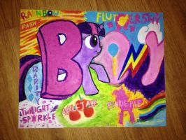 Oil Pastel Brony Poster by The-Bryce-Is-Right