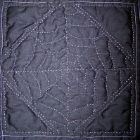 spider web quilting by wiccanwitchiepoo