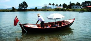 Wooden boat on the Tweed River by CouchyCreature