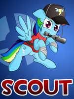 Pony Fortress 2: Scout by 10art1