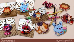 Cute Critter Charms by doingwell