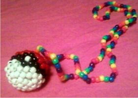 pokeball kandi necklace by Brogan-Babycakes