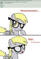 Ask Hipster Derpy 014 by WillowTails