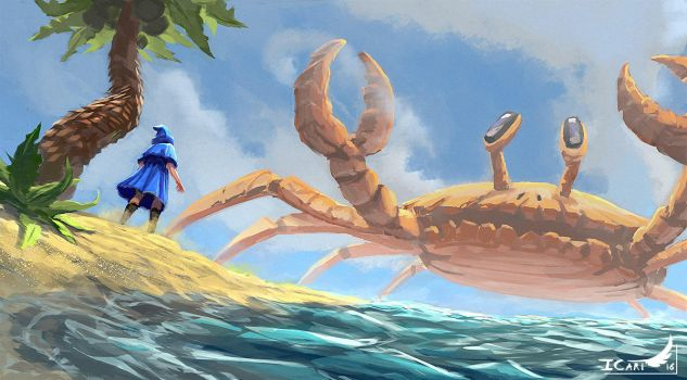 3h Speedpainting -  the giant crab by ICart-Paint