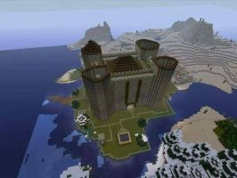 minecraft castle by ElusiveFanatic
