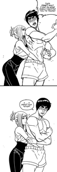 Gai and Hani: Special Training by mongrelmarie