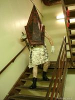 Pyramid Head Stairwell 2 by Concolor22