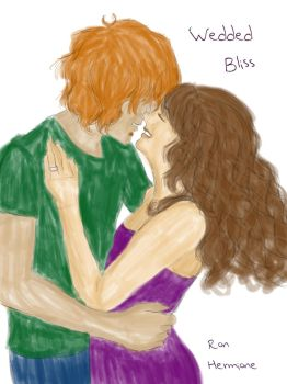 Ron And Hermione - Wedded Bliss by MollySnape