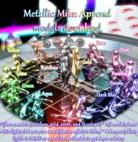 [MMD] Metallic Miku Append DOWNLOAD 15 colours by dazza1008