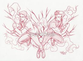 Commission - Voltron Lance and Shiro by DeanGrayson