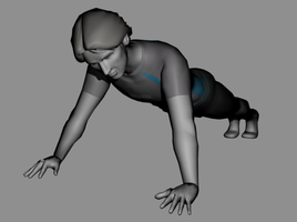 Male Wii Fit Trainer (Push Up) by KoDraCan