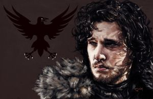 Jon Snow of the Night's Watch by uncannyman