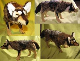 Geri/Freki Wolf Soft Sculpture Commission by Jarahamee