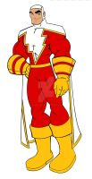 Captain Marvel SHAZAM redesign by wonderfully-twisted
