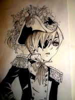ciel phantomhive 7 ft painting up close by PidonKatachi