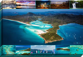 Whitsunday Montage Canvas by Questavia