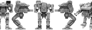 Battletech / MechWarrior Warhawk by lady-die