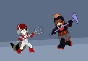 Kobe vs. Bruno Bear by KrDoz