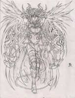 Nephilim (sketch/lineart) by Graydrone