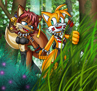 Tails and Fiona's Walk by Lord-Kiyo