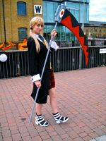 Maka with her scythe by ZeroKing2015