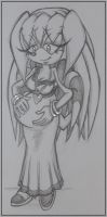 Quick Sketch- Pregnant Sky by Sky-The-Echidna