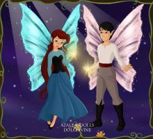 Fairy Princess Ariel and Prince Eric by ArielxJim08