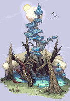 Dragon Tree[Pixel Art] by PeL07