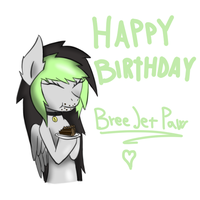 Birthday gift for Breejetpaw by BlueRaveMod