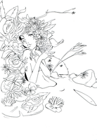 Lineart: Flowers by kangel