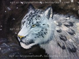 Snow Leopard by DeliriouStudios