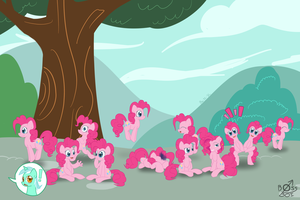 12 Clones of Pinkie by bossboi