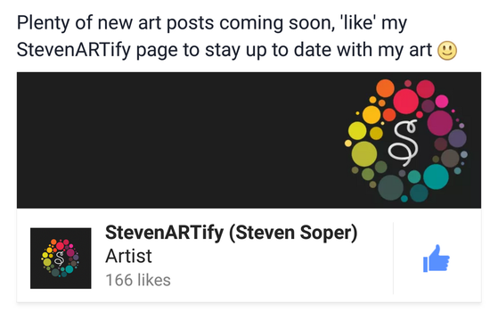 Help Support my Facebook art page by StevenARTify