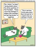 Liberal Sheep Troubles by Conservatoons