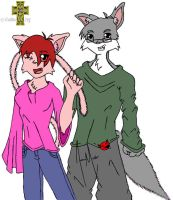 anthro couple -unfinished by celtic-elf