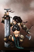 Barbarian colored by Marco Cosentino by ValeLuche