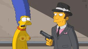 The Simpsons S25E16 Marge at gunpoint by 2ndChainMale