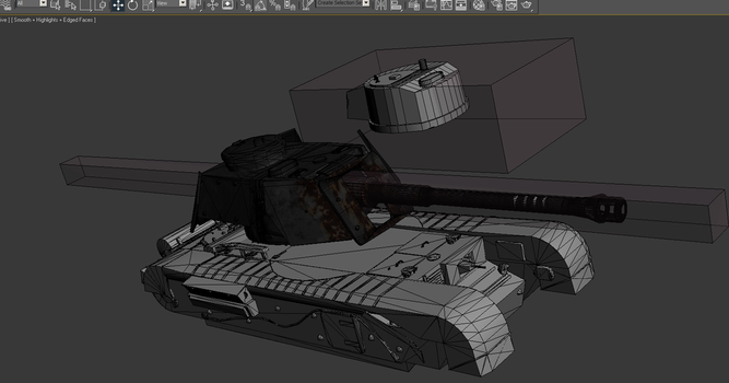 3DS Max tank model by Oblitor
