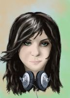 girl with the headset by Vaalera