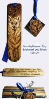 Promo Gift 2 - Wolf Bookmark and Token by BumbleBeeFairy