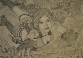 Lara Croft Drawing by Swaal