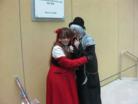 Undertaker and Grell by KaoticRainbows