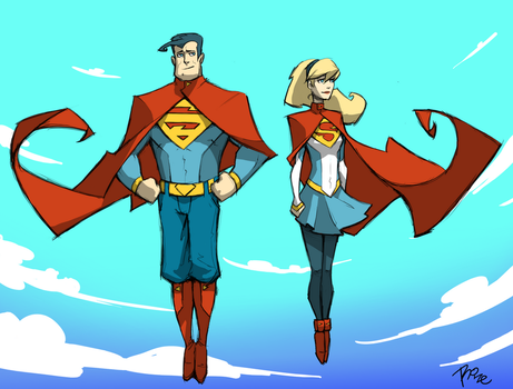 Superman and Supergirl V2 by MrRizeAG