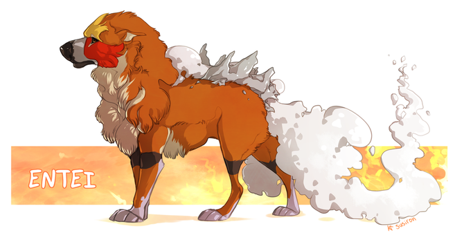 Entei by Susiron